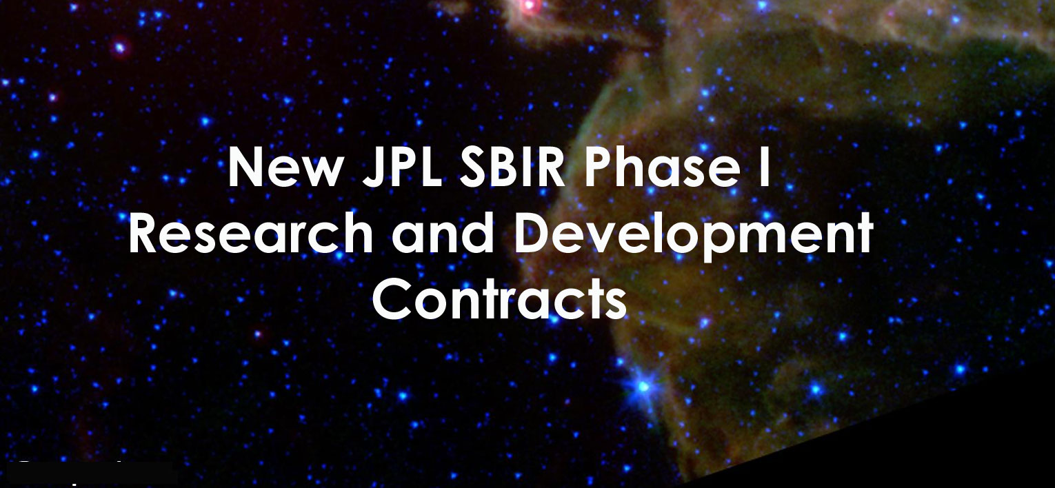 2012 JPL SBIR Phase I Contracts