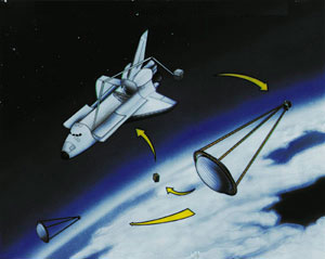 Space Shuttle Inflatable Antenna Experiment